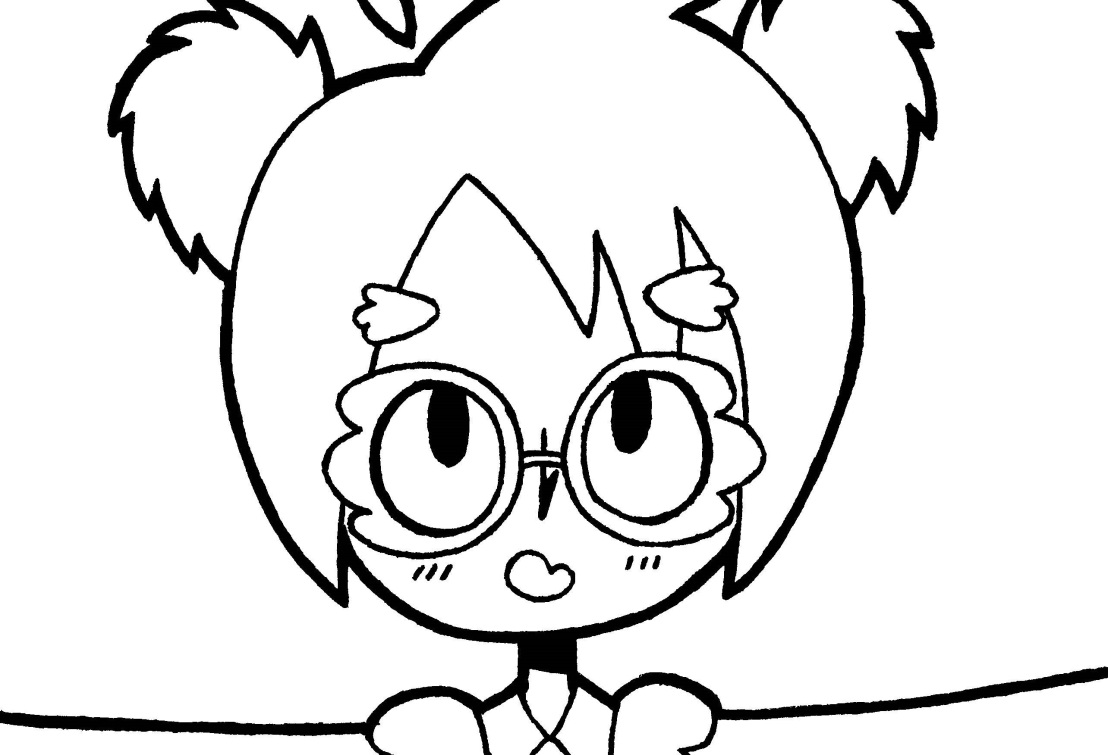 Line Art: Owl Girl